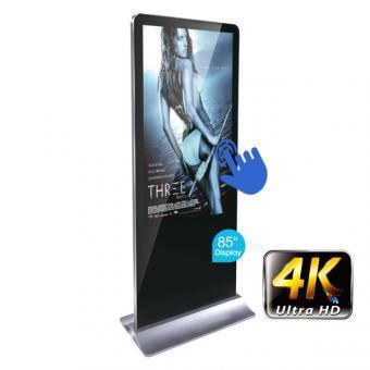 """Digitale Info-Stele 85"""" im Smartphone-Design mit 4K Display und kapazitivem Touchdisplay"""
