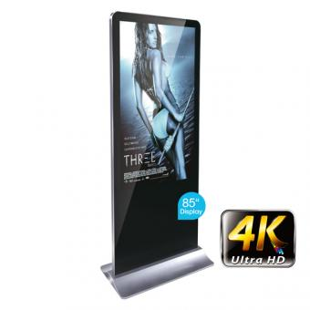 "Digitale Info-Stele 85"" im Smartphone-Design mit 4K Display"
