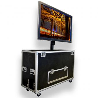 "Media-Board Outdoor 55"" incl. Flightcase mit Lift"